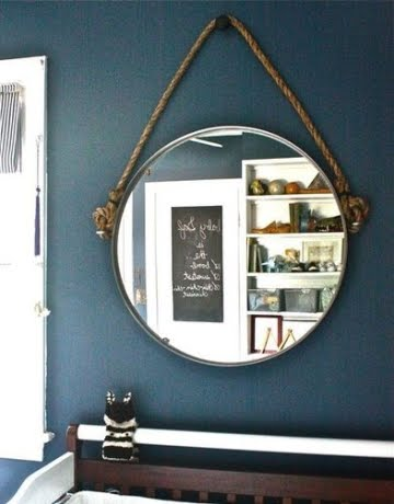 make a rope mirror