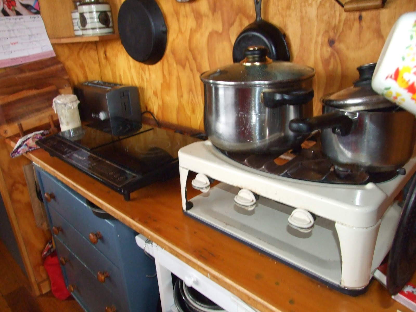 Cooking without a stove - Our 50 S Style Gas Cooker Running Alongside Our Induction Cooktop While We Trialed Them Both