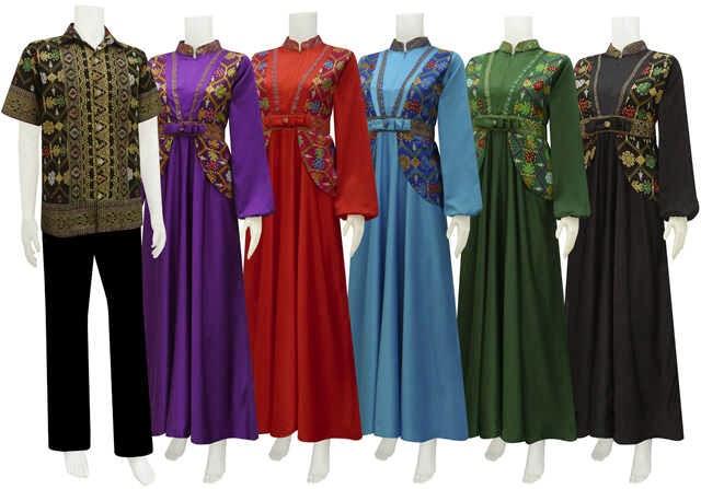 Model Baju Gamis Batik Motif Etnik Batik Bagoes Solo