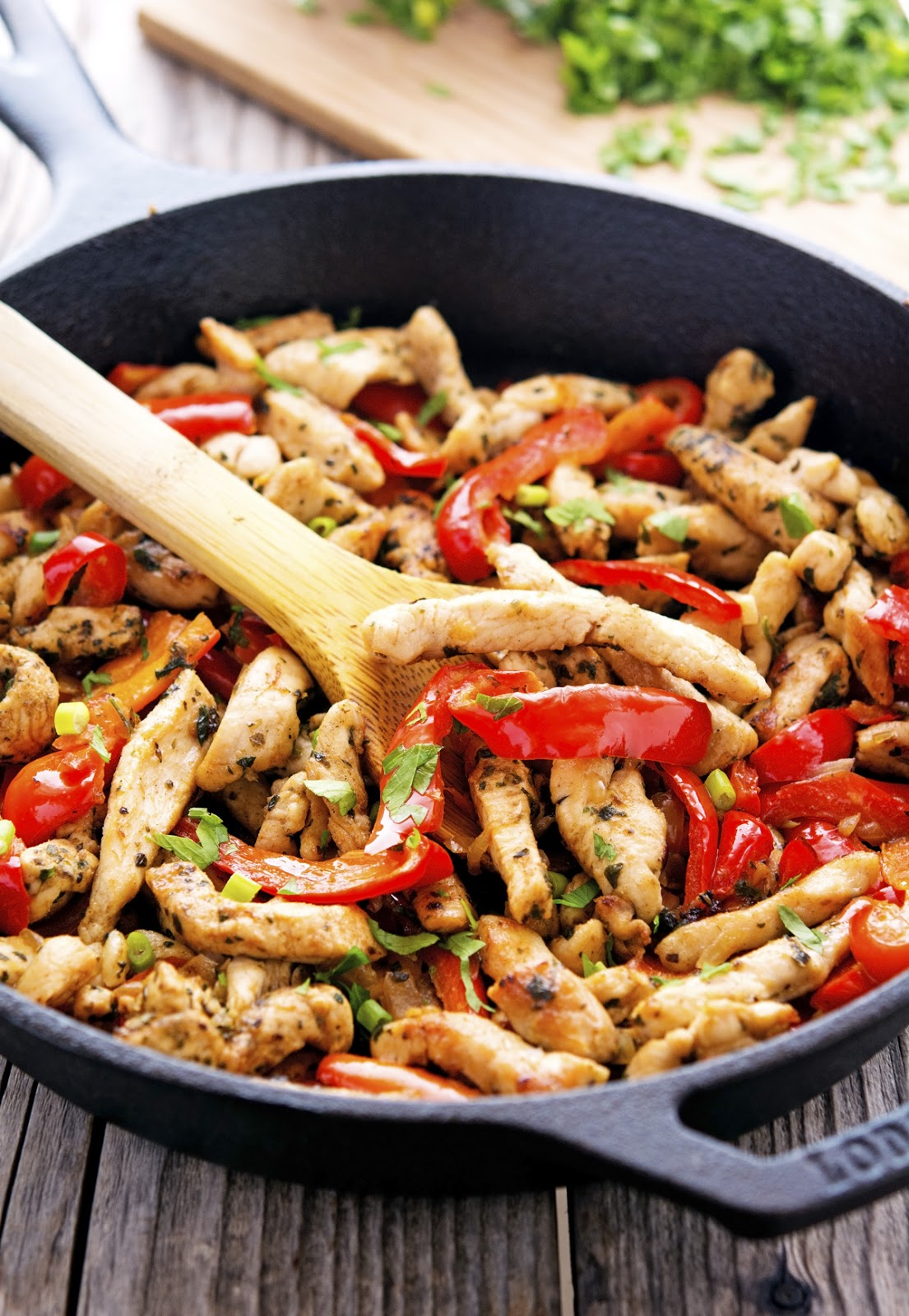 20-Minute Skillet Chicken Fajitas