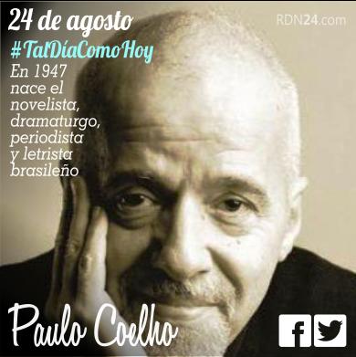 24 de agosto | #Taldíacomohoy en 1947 nace Paulo Coelho | @paulocoelho