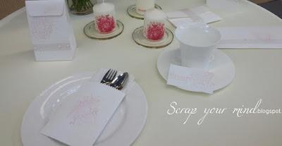 Papeterie-Hochzeit-Tischdekoration
