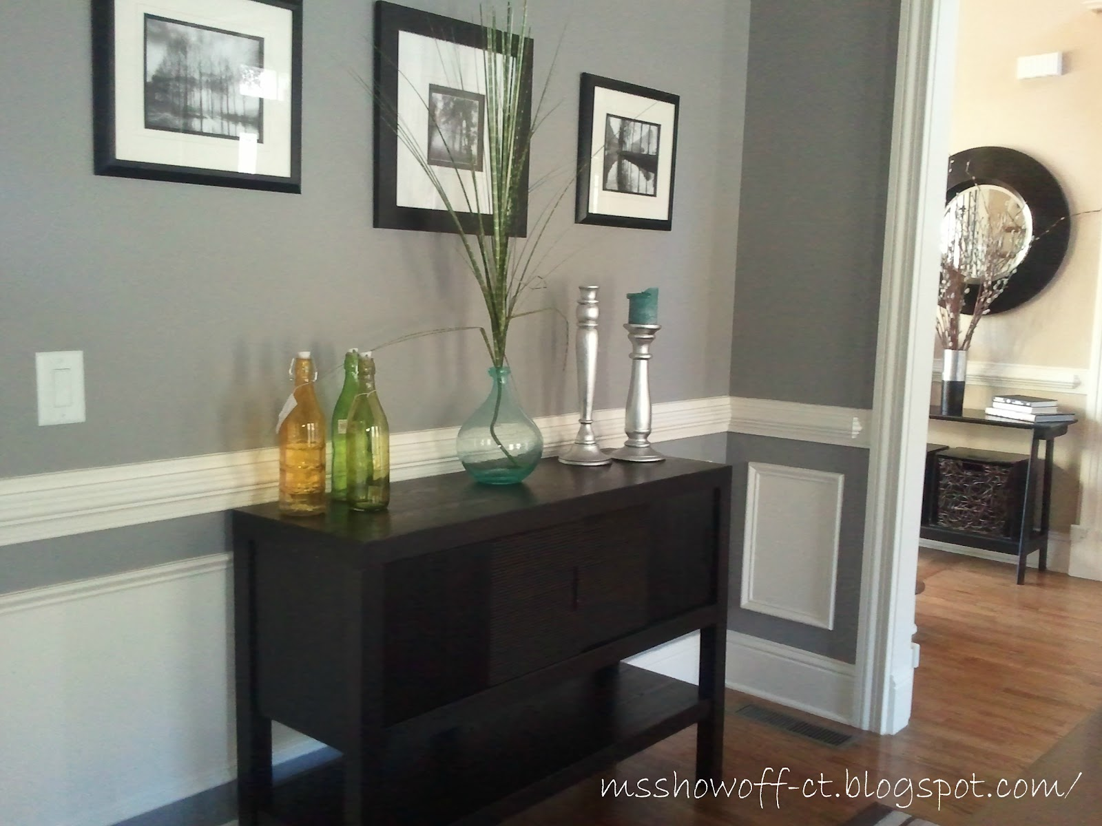 Martha Stewart Cement Gray Paint : Show off christmas touches round here