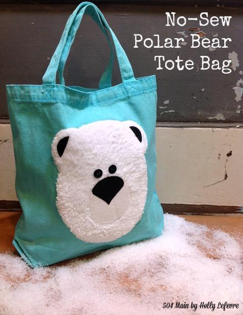 Adorable polar bear Tote Bag