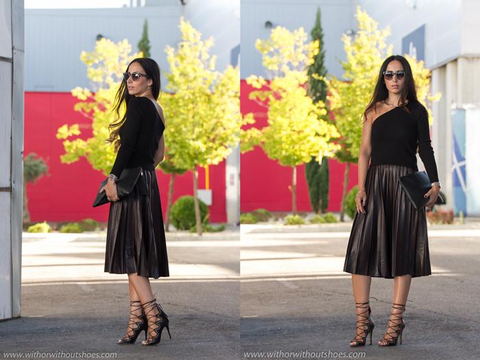 Blogger de moda de Valencia con estilo chic y zapatos de lujo