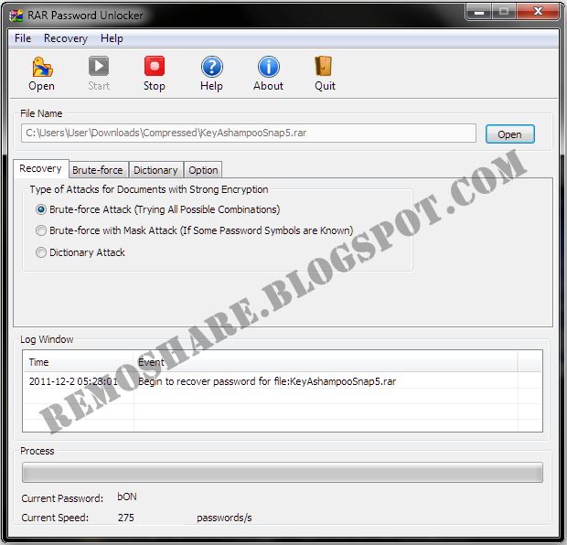 rar password unlocker crack only