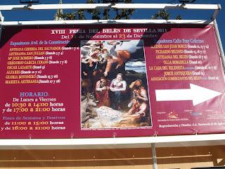 Panel informativo del recinto de la XVIII Feria del Belén