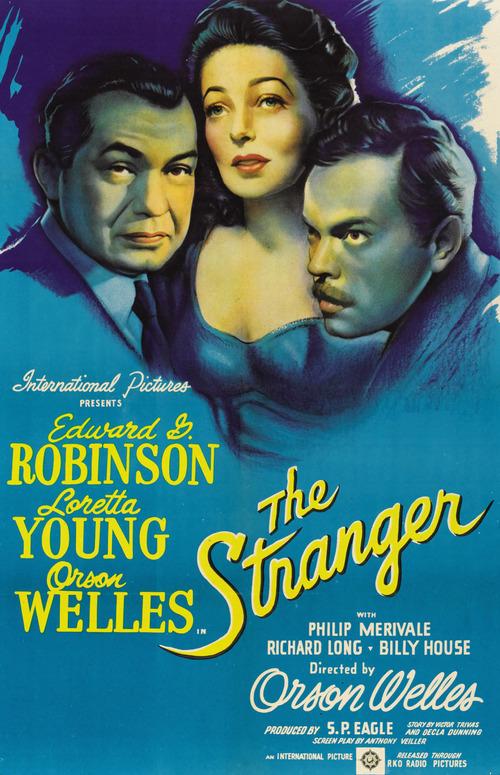 Cartel de El Extraño, Orson Welles, 1946