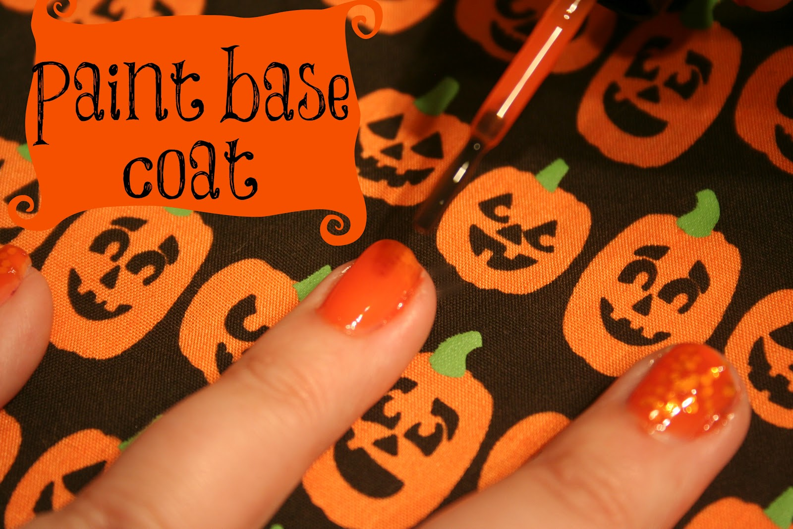 How To: Sparkly Pumpkin Nails (Jelly Manicure)