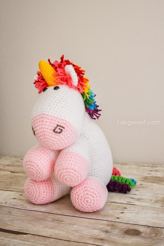 Crochet Unicorn Scarf : Crochet Unicorn