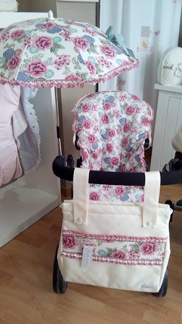 vestidura floral para silla de paseo
