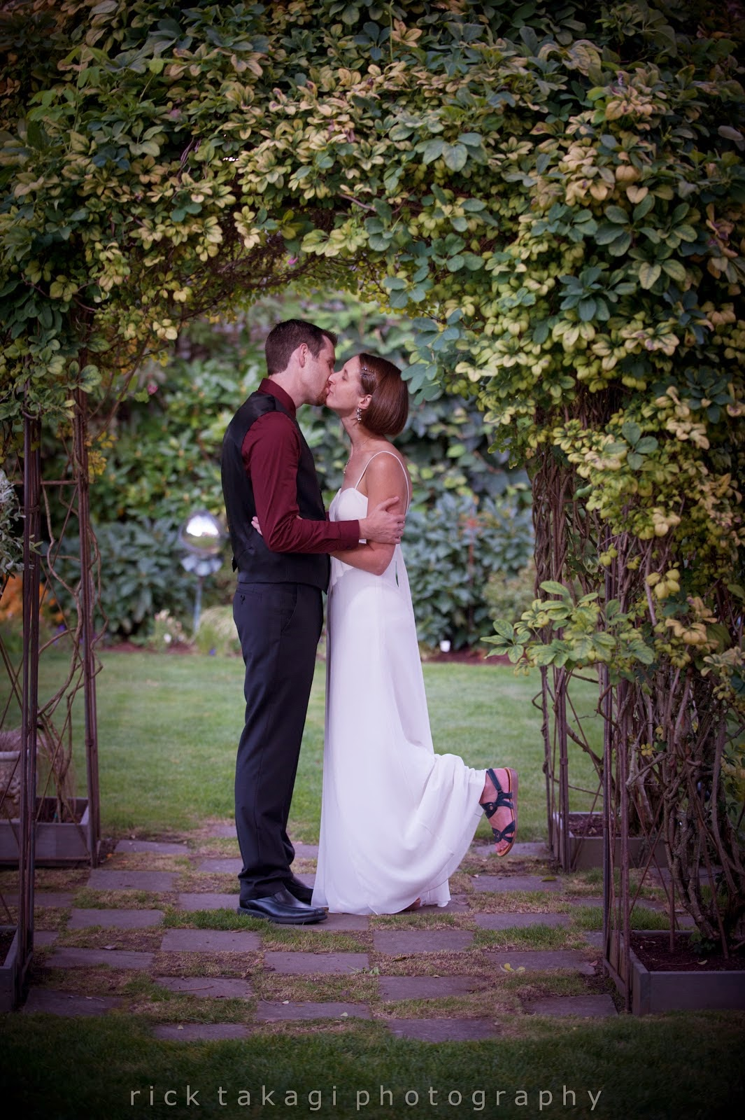 The kiss to seal Ashley and Aaron's wedding vows - Patricia Stimac, Seattle Wedding Officiant