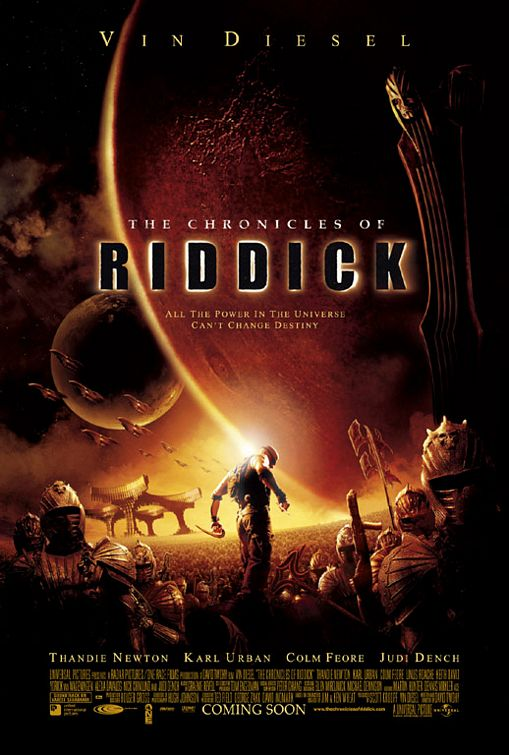 Chronicles of Riddick movie poster