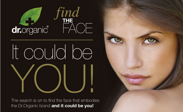 Dr organic be the face campaign