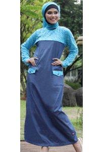Zenitha Gamis Zn98 - Biru (Toko Jilbab dan Busana Muslimah Terbaru)