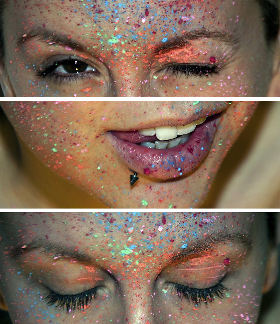 For Peet's Sake blog colorful paint splatter girl face