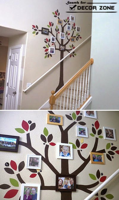 Top 25 staircase wall decorating ideas - stair wall decoration