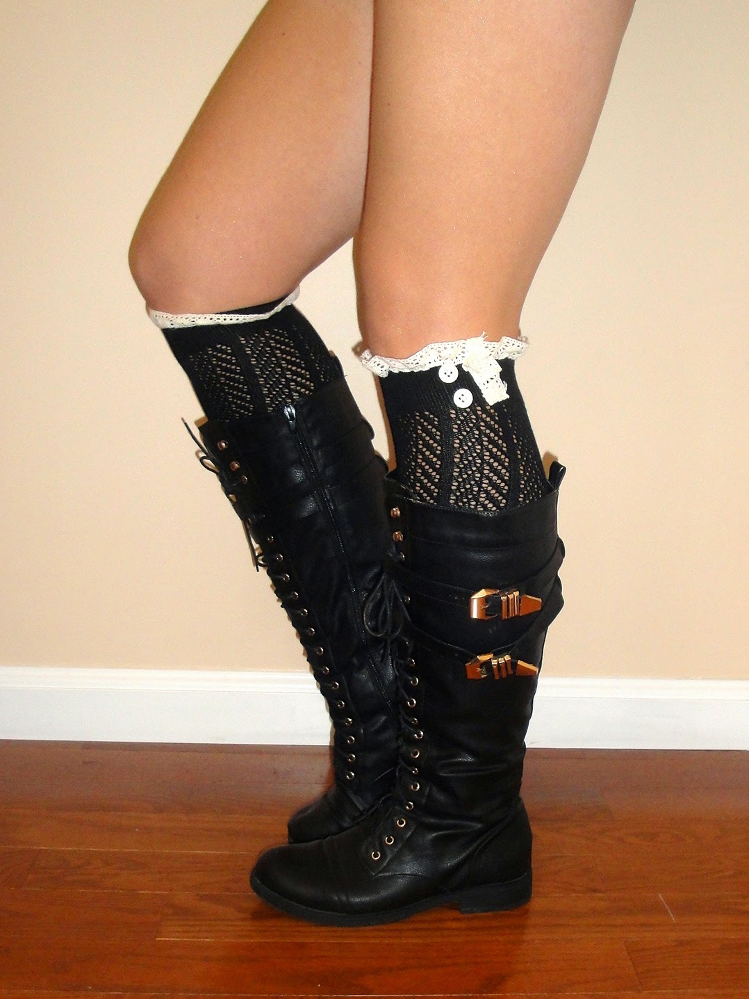 boot socks, lace boot socks, combat boots, black combat boots, lace up combat boots,