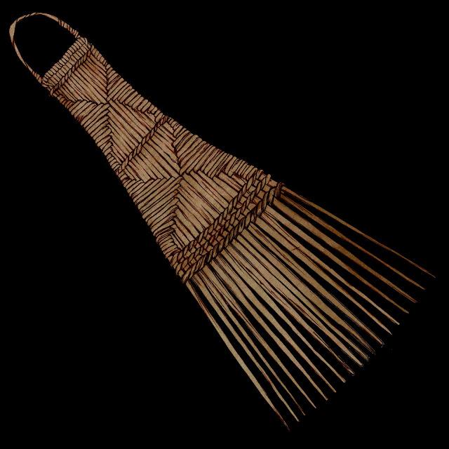 Peine ,  origen : Congo , coleccion Carsi, dibujo