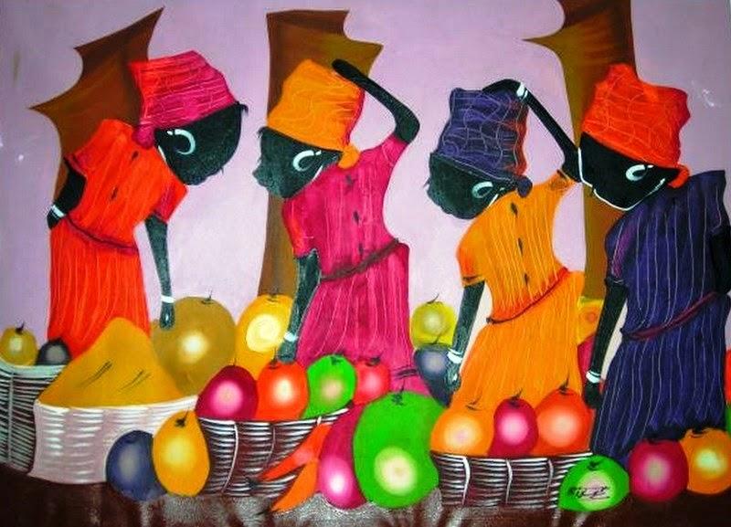cuadros artesanales de frutas para cocina