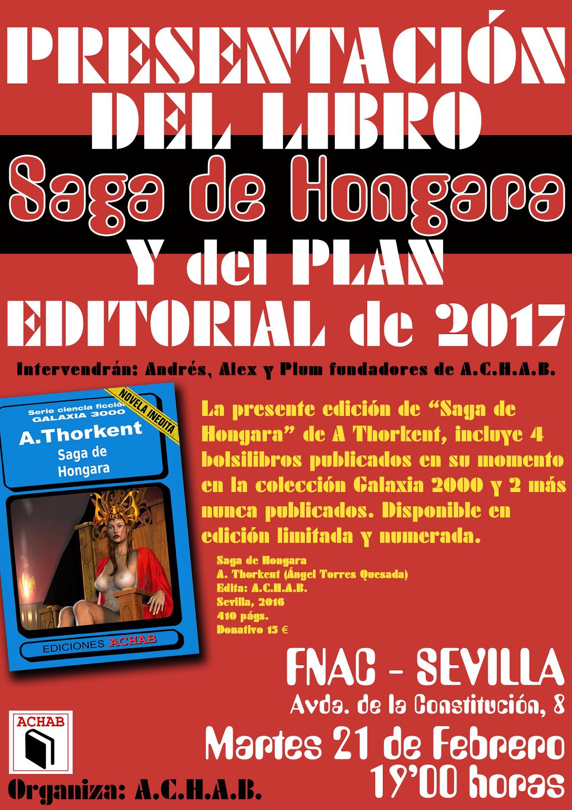 """2ª PRESENTACIÓN DEL LIBRO """"SAGA DE HONGARAA"""""""