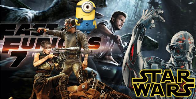 Saiba quais são os filmes mais pirateados, comentados, pesquisados e maiores bilheterias de 2015