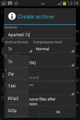 Cara mengkompres file dengan ZArchiver 2