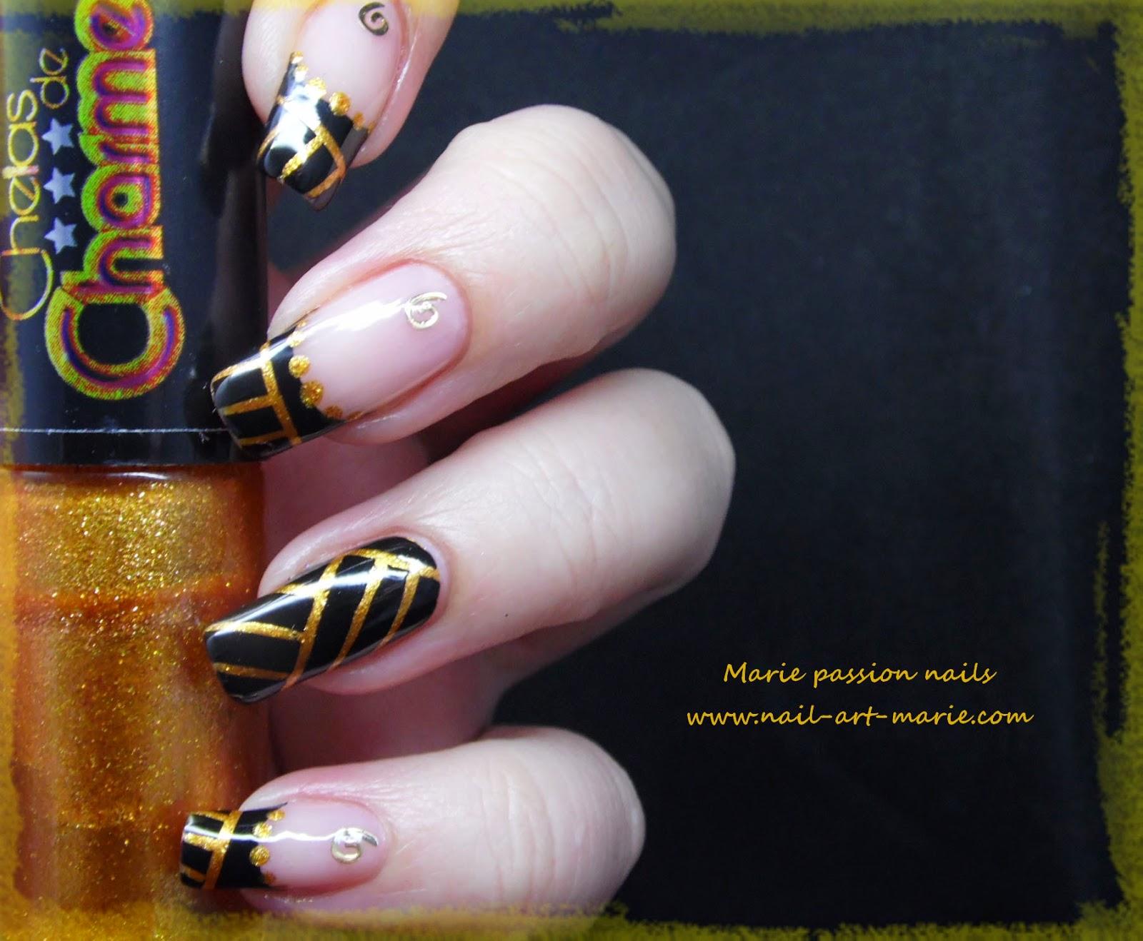 Nail art égyptien6