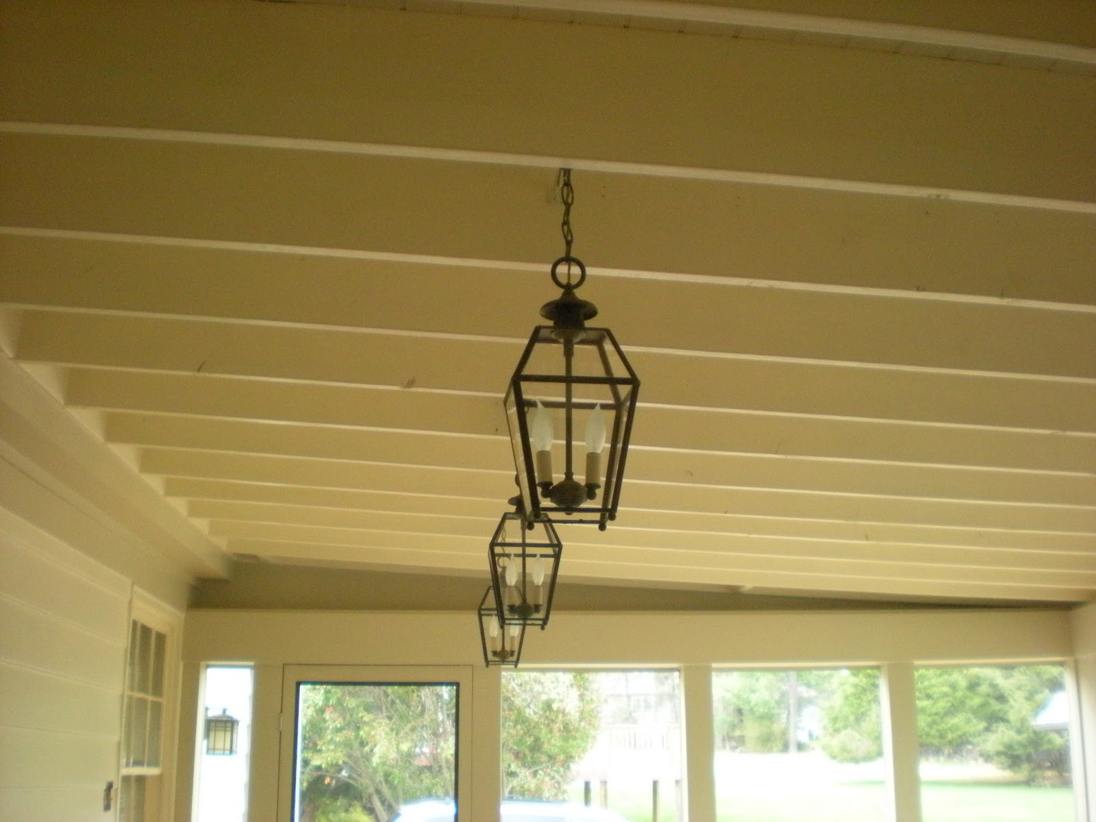 All About Vignettes Screened Porch Pendant Lighting