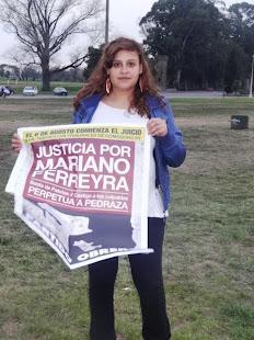 TAZ PEREYRA, HIJA DE PAPELEROS, TAMBIÉN QUIERE JUSTICIA POR MARIANO