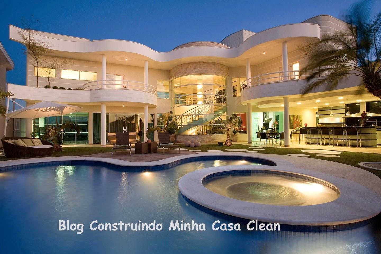 Construindo minha casa clean fachadas de casas modernas e for Casa modernas x dentro