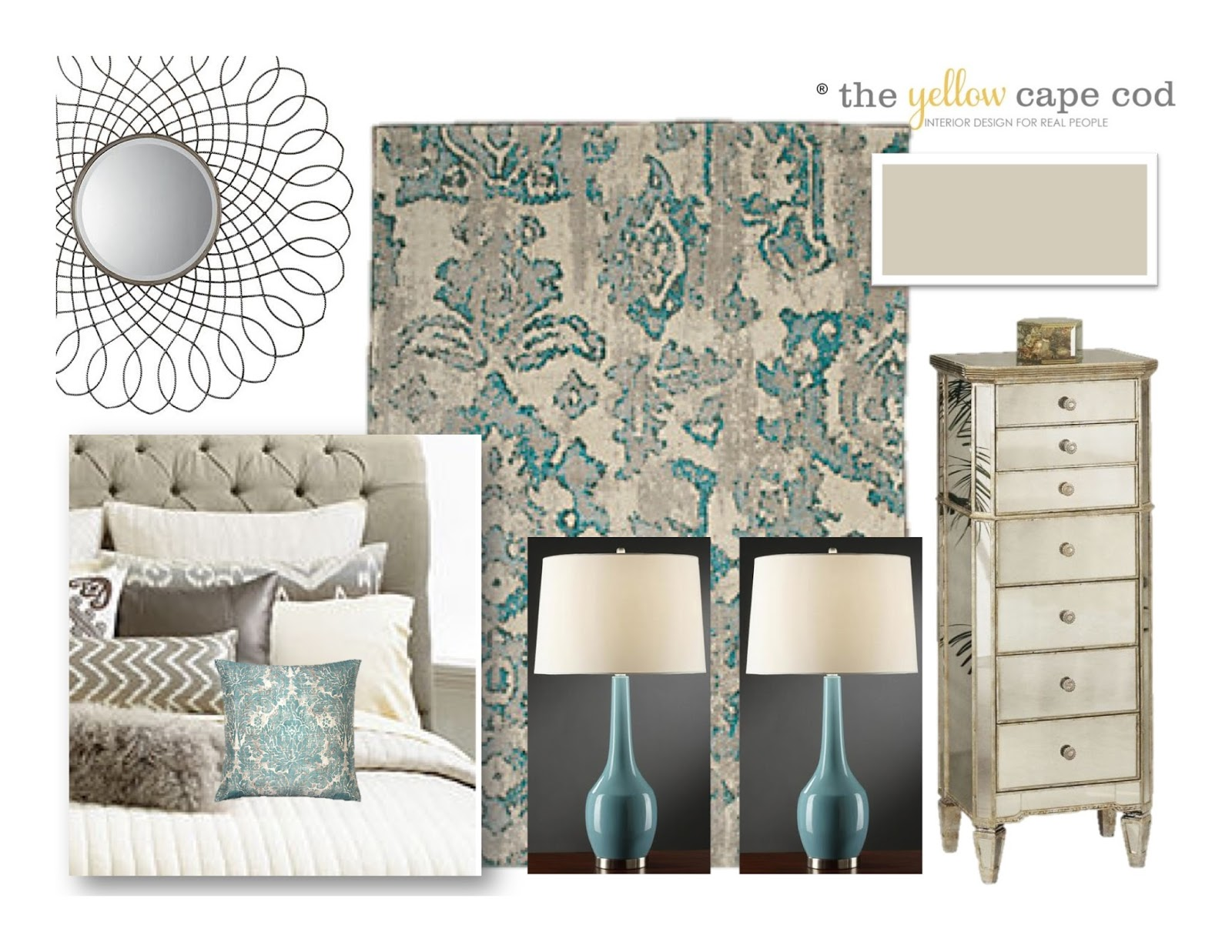 The yellow cape cod luxurious tiffany blue and beige Blue and tan bedroom decorating ideas