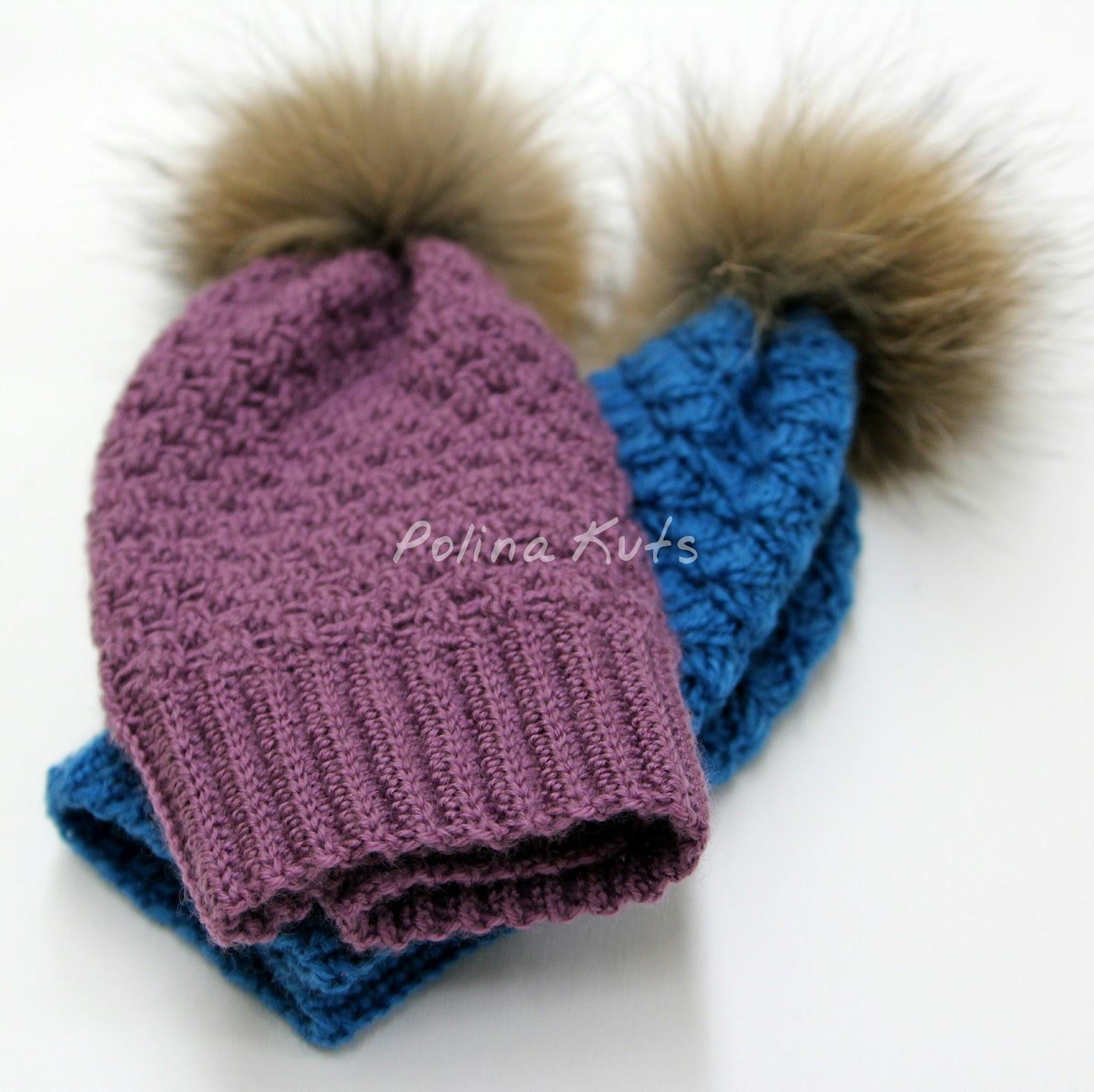 схема шапки с отдельно вывязанной косой