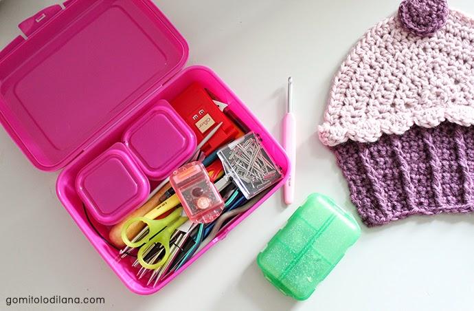 porta ferri e porta punte per lavoro a maglia knitting e crochet