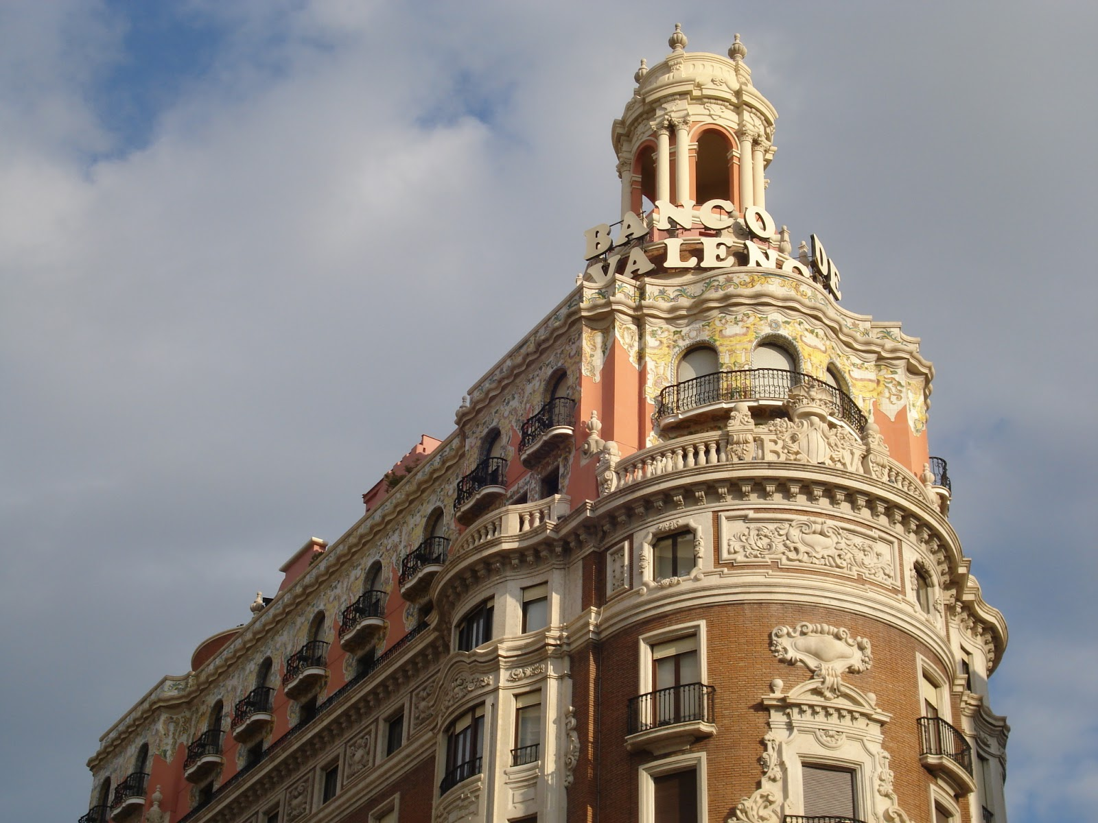while strolling around the city center be sure to look up so as to see the