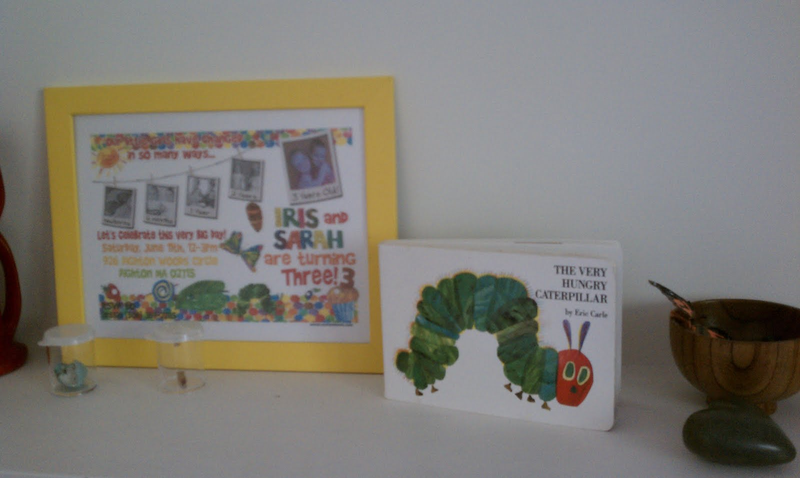 Nature Shelf from Very Hungry Caterpillar Party (Photo from The Education of Ours)