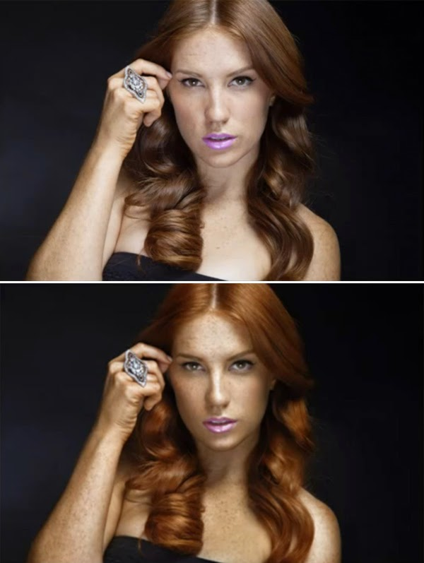 Redhead Girl With Freckles Retouch