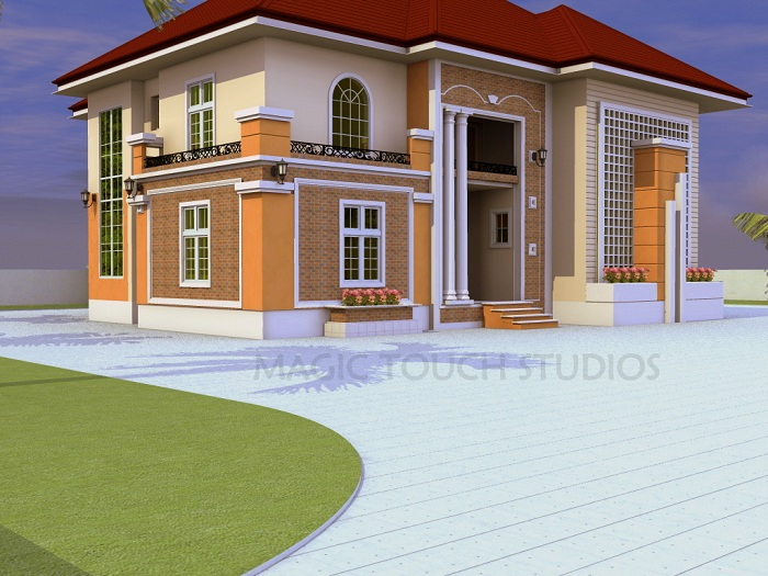 5 bedroom duplex residential homes and public designs for 5 bedroom house ideas