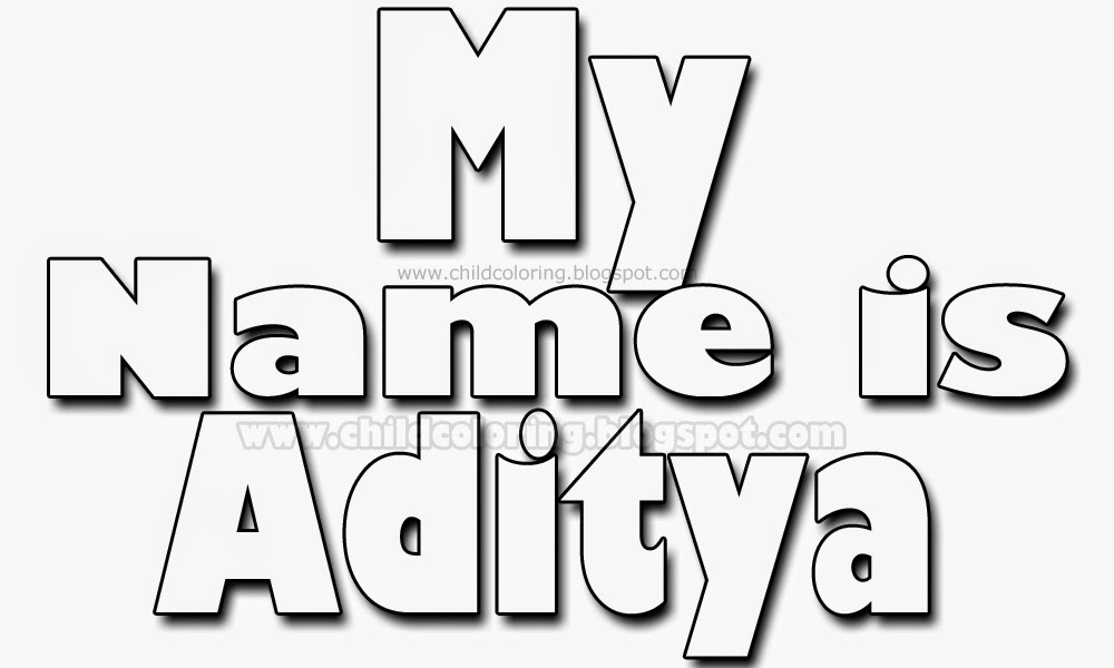 My name is Aditya - Names Coloring ~ Child Coloring