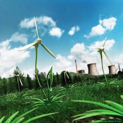 turbina eolica verde