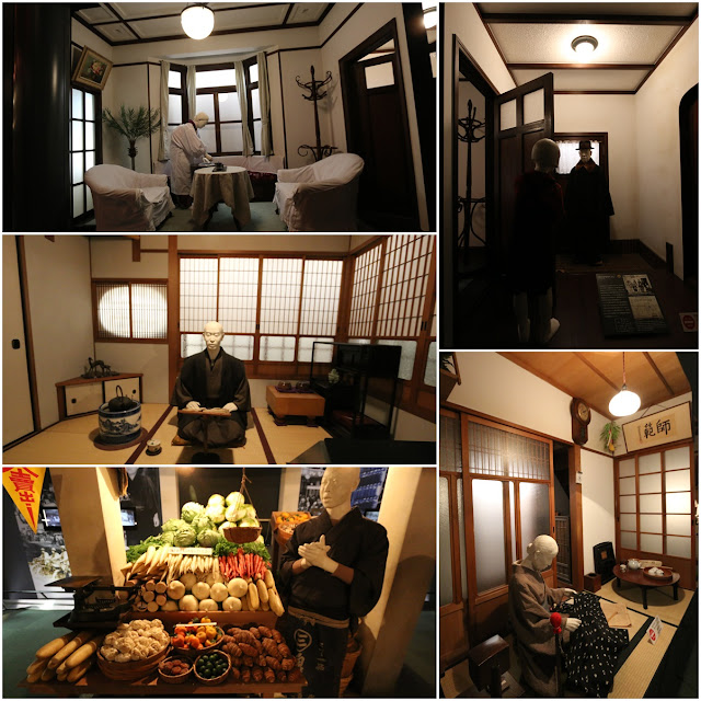 Modern lifestyle and homes of Japanese at Museum of History in Osaka, Japan
