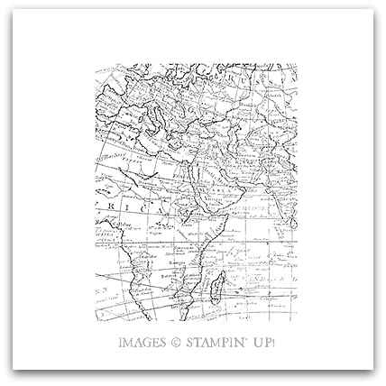 World Map Stamp Brush - Digital Download by Stampin' Up!