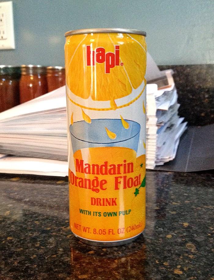 Hapi Mandarin Orange Float Drink