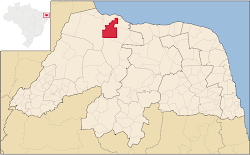 Mapa de Serra do Mel/RN