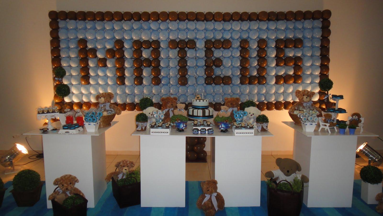 decoracao festa urso azul e marrom : decoracao festa urso azul e marrom: aí está uma nova festa de urso azul e marrom, ficou tudo mto lindo