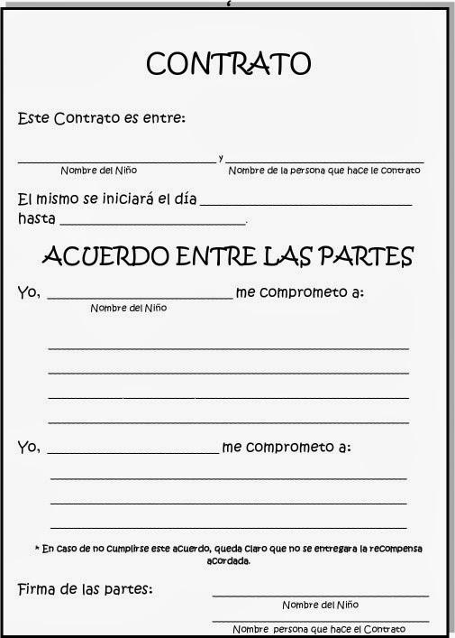 eleducacion contrato de conducta en adolescentes