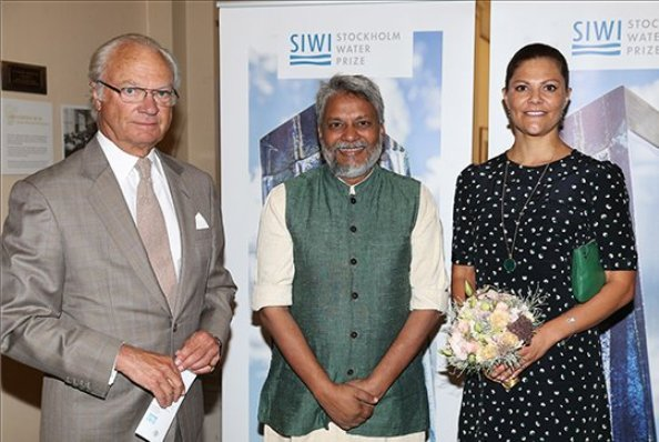 King Carl Gustaf And Princes Victoria Attended 'Stockholm Water Prize' Seminar