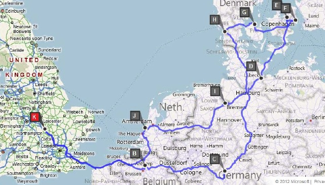 Our Route around Europe
