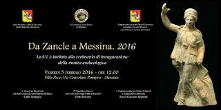 "MOSTRA ARCHEOLOGICA ""DA ZANCLE A MESSINA. 2016"""