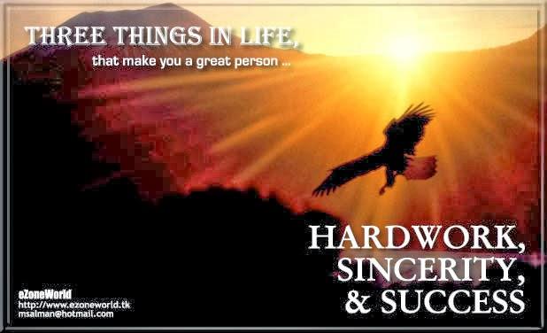Hard Work, Sincerity & Success